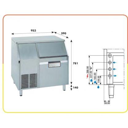 Machine à glace en grains 175 kg
