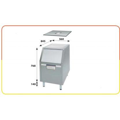 Réserve de 100 kg pour machine glace en grains