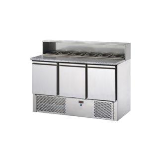saladettes réfrigérées 2 portes meuble cuisine inox