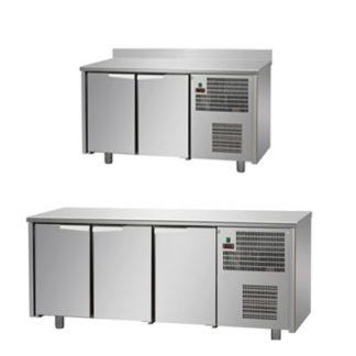 Table réfrigérée standard - Meuble inox avec ou sans dosseret