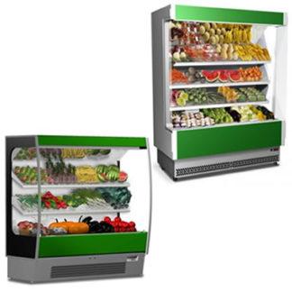 Vitrines réfrigérée murales fruits et légumes pour professionnel