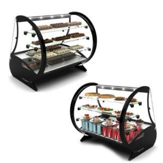 Vitrine réfrigérée de comptoir pour topping, buffet et chocolats