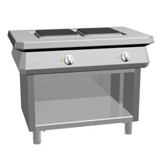 Piano de cuisson 2 feux électrique gamme 1100 four mixte